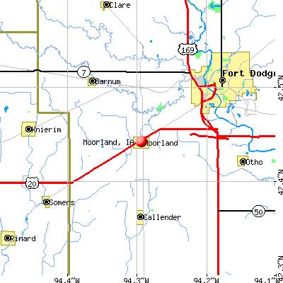 Moorland, IA map