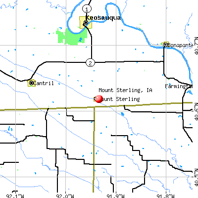Mount Sterling, IA map