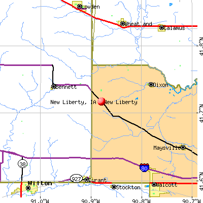 New Liberty, IA map