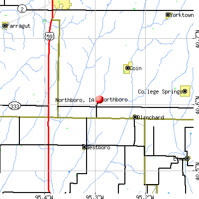 Northboro, IA map