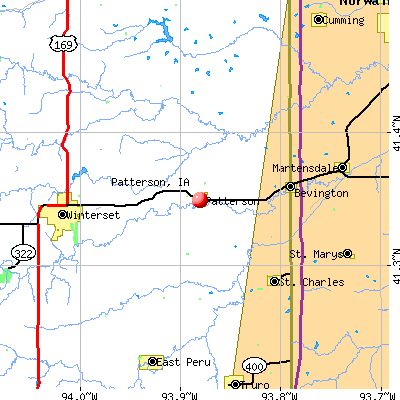 Patterson, IA map