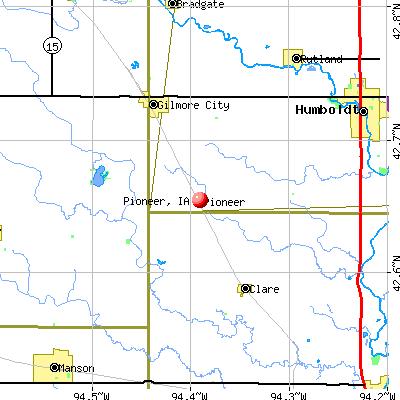 Pioneer, IA map