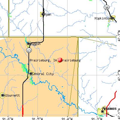 Prairieburg, IA map