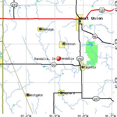 Randalia, IA map