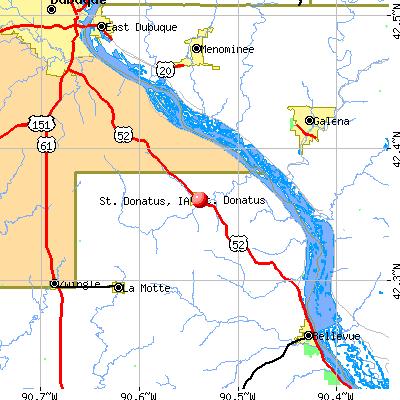 St. Donatus, IA map