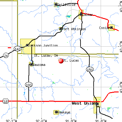 St. Lucas, IA map