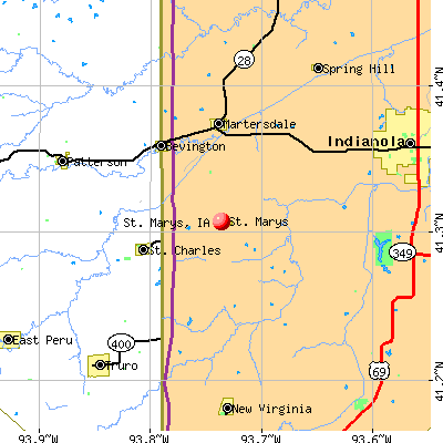 St. Marys, IA map