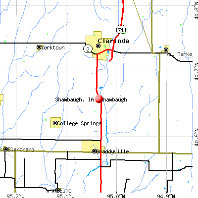 Shambaugh, IA map