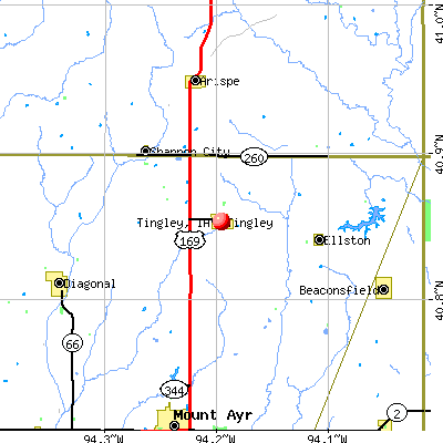 Tingley, IA map