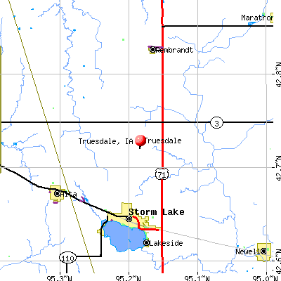 Truesdale, IA map