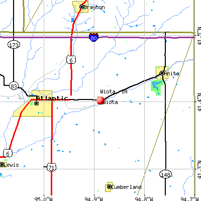 Wiota, IA map