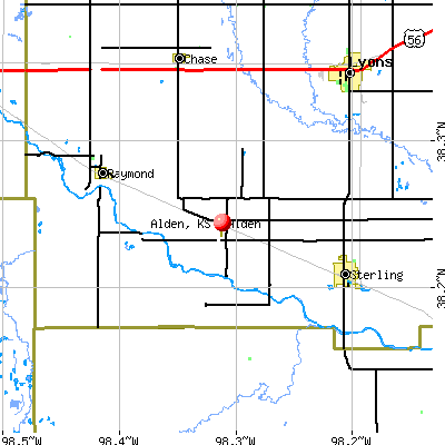 Alden, KS map