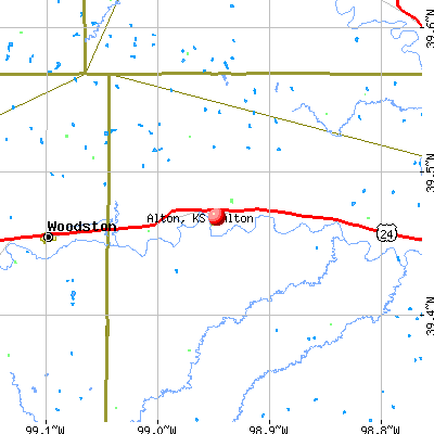 Alton, KS map