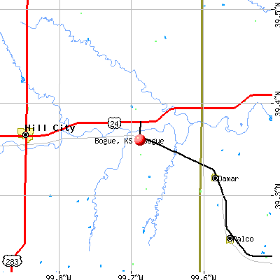 Bogue, KS map
