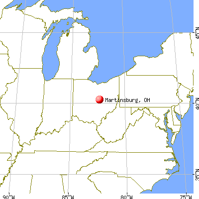 Martinsburg Ohio OH 43037 profile population maps real estate