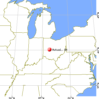 Mutual, Ohio map