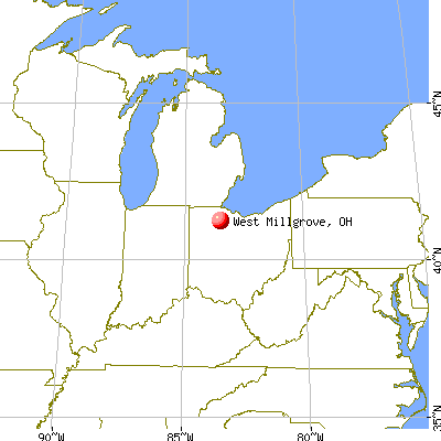 West Millgrove, Ohio map