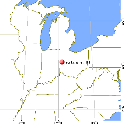 Yorkshire, Ohio map