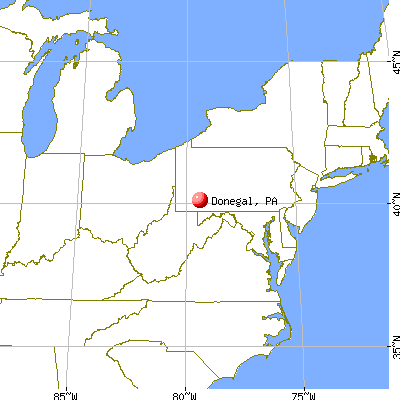 Donegal, Pennsylvania map
