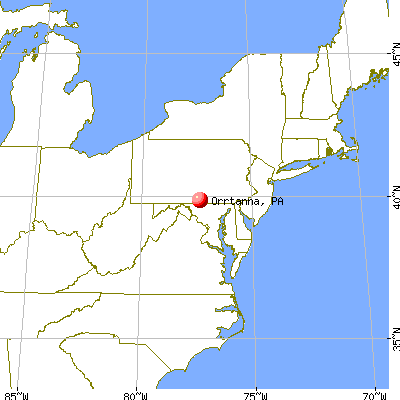 Orrtanna, Pennsylvania map