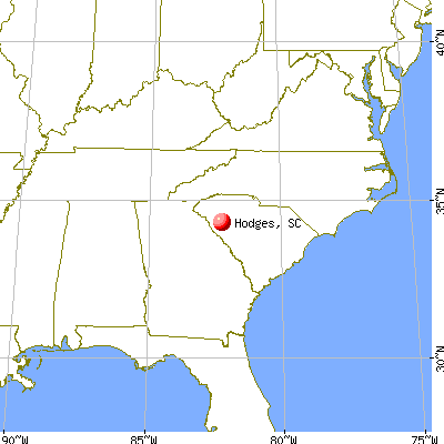 Hodges, South Carolina map