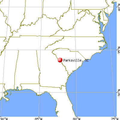 Parksville, South Carolina map