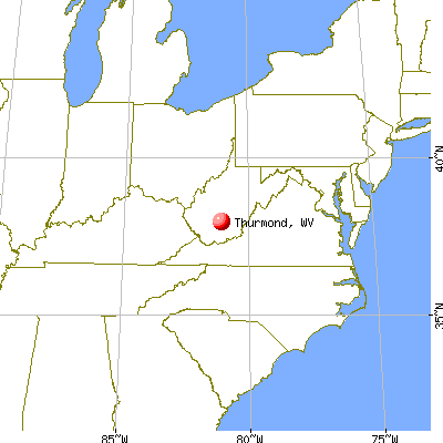 Thurmond, West Virginia map