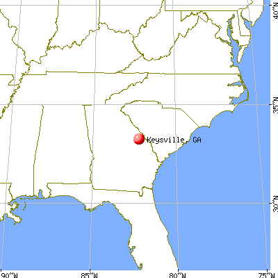 Keysville, Georgia map