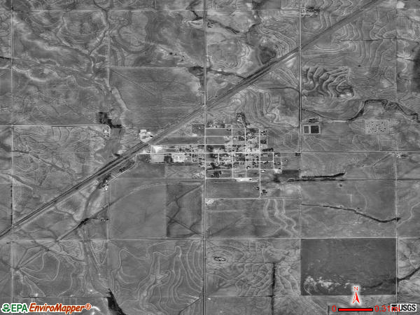 Hazelton satellite photo by USGS 