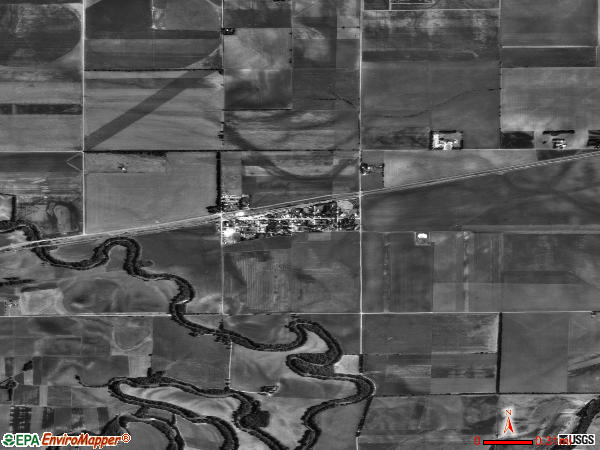 New Cambria satellite photo by USGS