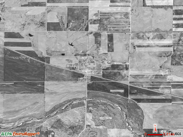 Raymond satellite photo by USGS