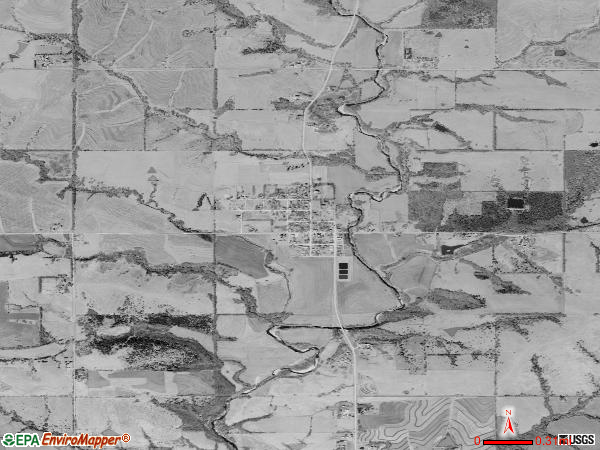 Soldier satellite photo by USGS 