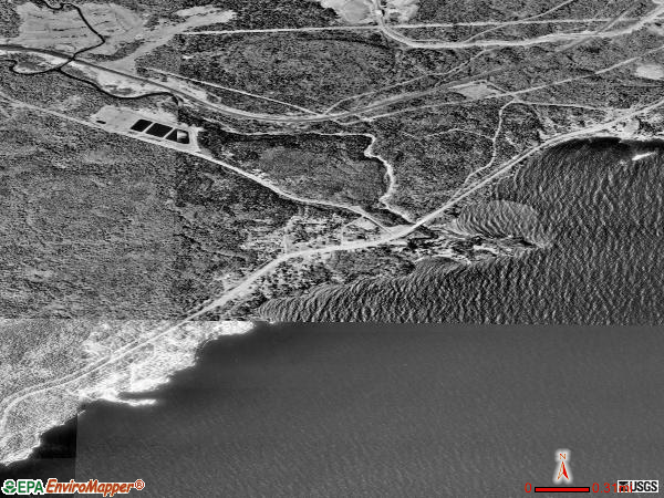Beaver Bay satellite photo by USGS