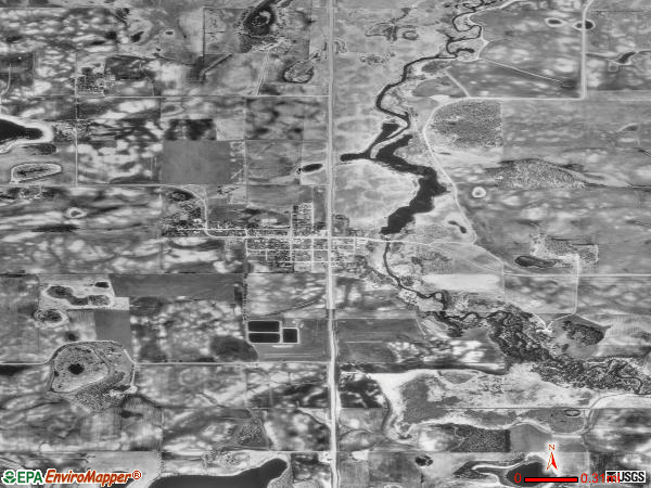 Elizabeth satellite photo by USGS