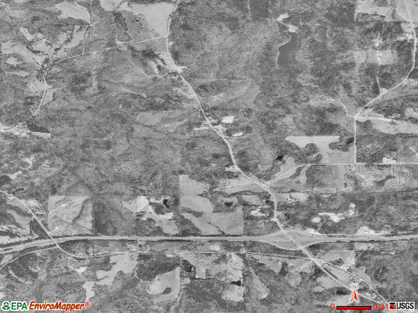 Franklin satellite photo by USGS