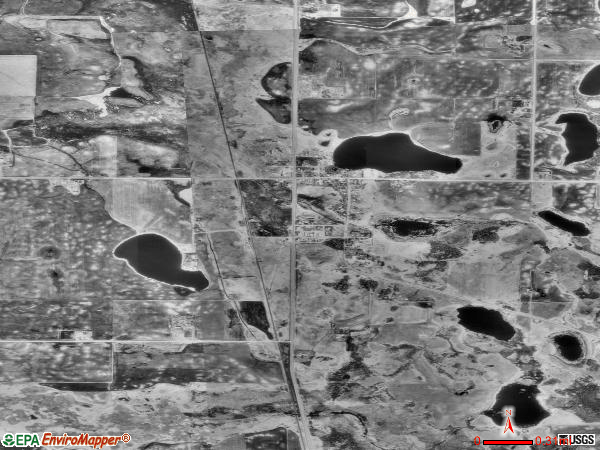 Ogema satellite photo by USGS