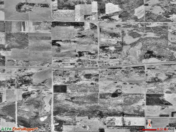 Shevlin satellite photo by USGS