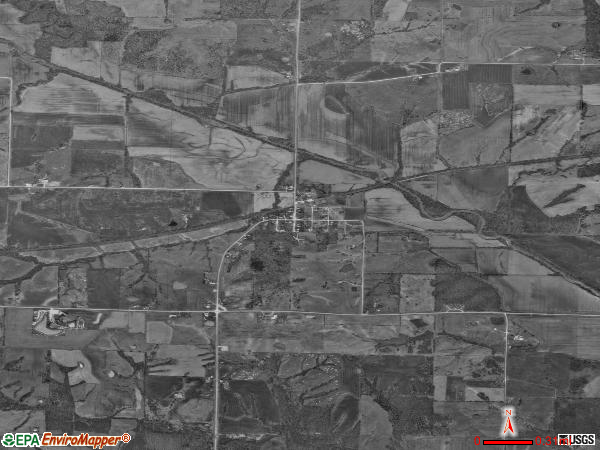 Arbela satellite photo by USGS