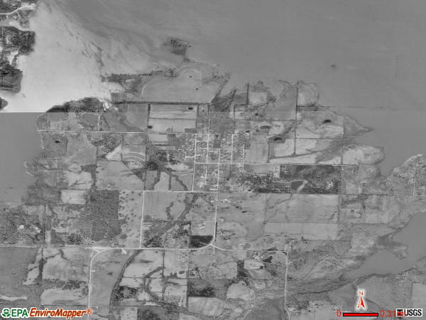 Brownington satellite photo by USGS 
