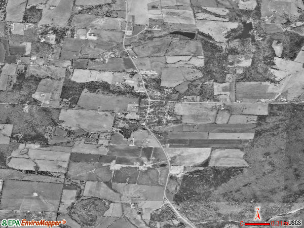 Caledonia satellite photo by USGS