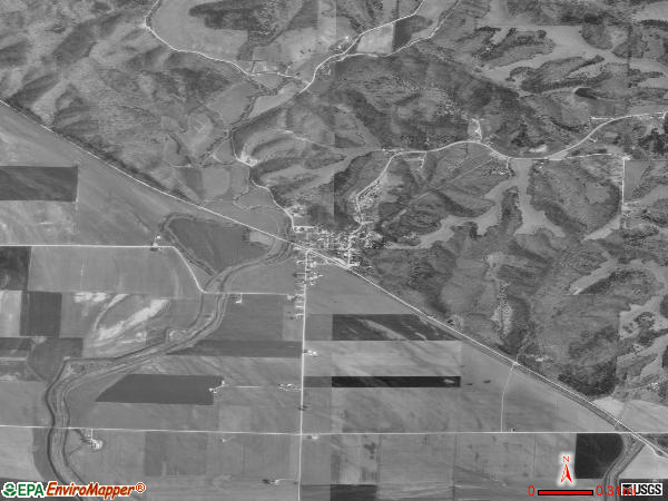 Hartsburg satellite photo by USGS