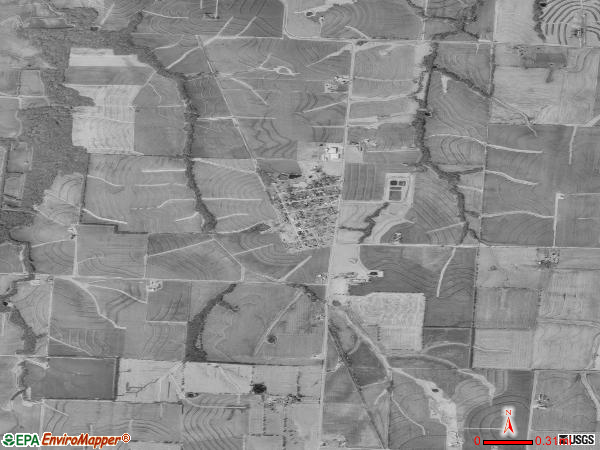 Hughesville satellite photo by USGS