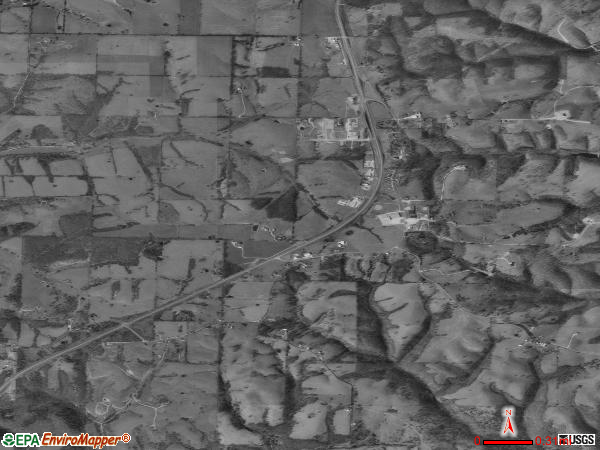 Spokane satellite photo by USGS 