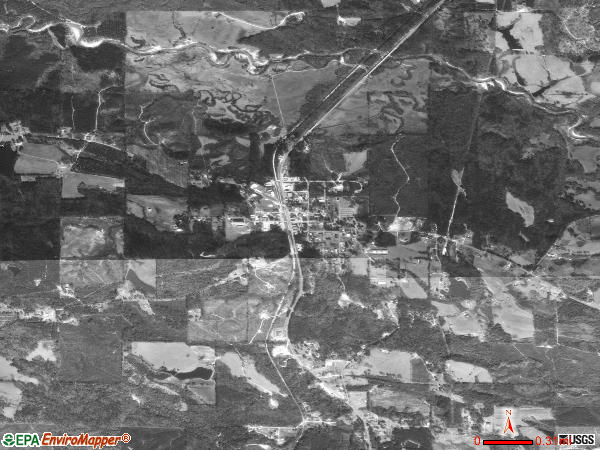 Gilbertown satellite photo by USGS 
