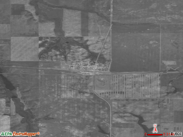 Flaxville satellite photo byflaxville town
