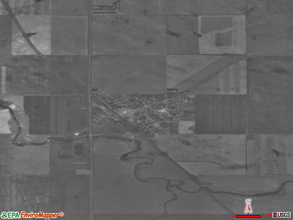 Froid satellite photo by USGSfroid town