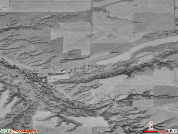 Highwood satellite photo by USGS