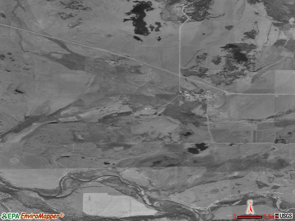 Ovando satellite photo by USGS