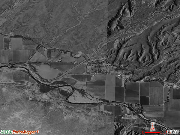 Virden satellite photo by USGS
