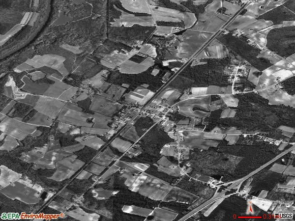 Godwin satellite photo by USGS